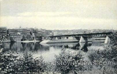 Haverhill Bridge - Massachusetts MA Postcard