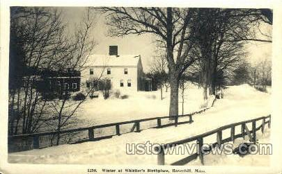 Real Photo Whittier's Birthplace - Haverhill, Massachusetts MA Postcard