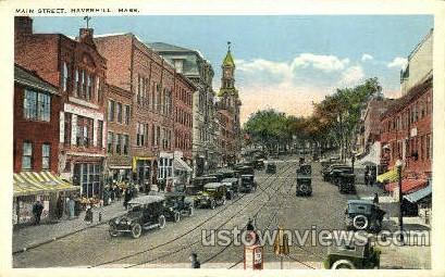 Main St. - Haverhill, Massachusetts MA Postcard
