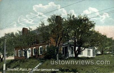 Old Spiller Garrison House - Haverhill, Massachusetts MA Postcard