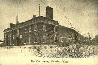 The New Armory - Haverhill, Massachusetts MA Postcard