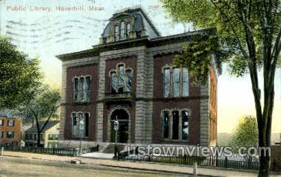 Public Library - Haverhill, Massachusetts MA Postcard