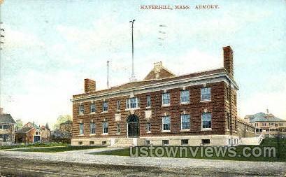 Armory - Haverhill, Massachusetts MA Postcard