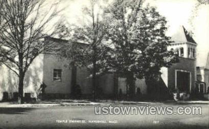 Temple Emanu-El - Haverhill, Massachusetts MA Postcard