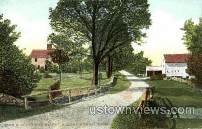 John G. Whittier's Birthplace - Haverhill, Massachusetts MA Postcard