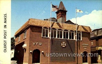 Lorraine Post 29 V.F.W. - Haverhill, Massachusetts MA Postcard