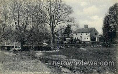 Whittiers Birthplace - Haverhill, Massachusetts MA Postcard