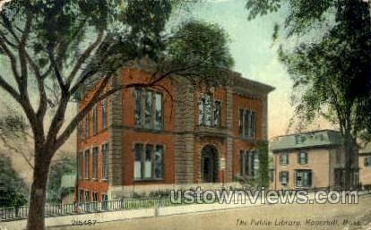 The Public Library - Haverhill, Massachusetts MA Postcard