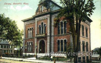 Library - Haverhill, Massachusetts MA Postcard