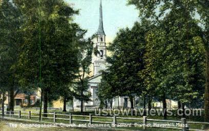 The Congregational Chruch - Haverhill, Massachusetts MA Postcard