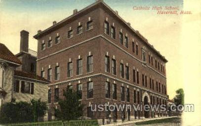 Catholic High School - Haverhill, Massachusetts MA Postcard