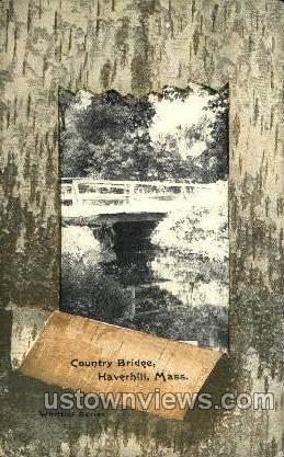 Country Bridge - Haverhill, Massachusetts MA Postcard