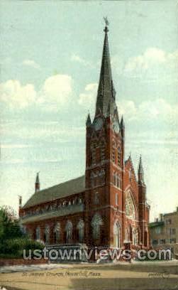 St. James' Church - Haverhill, Massachusetts MA Postcard