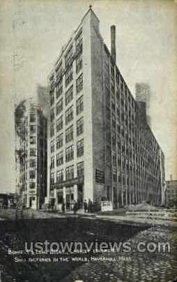 Burgess & Lang Buildings - Haverhill, Massachusetts MA Postcard
