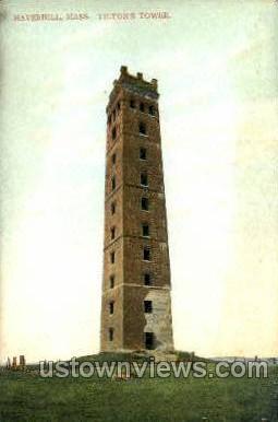 Tiltons Tower - Haverhill, Massachusetts MA Postcard