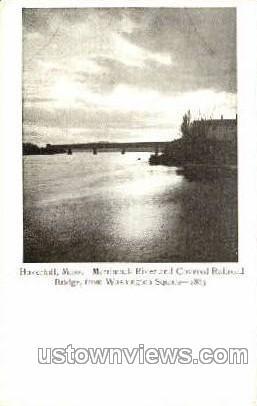 Merrimack River - Haverhill, Massachusetts MA Postcard