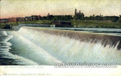 The Great Dam - Holyoke, Massachusetts MA Postcard