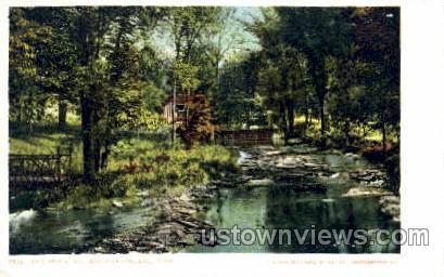The Brook, Mt Holyoke College - Massachusetts MA Postcard