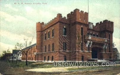M.V.M. Armory - Holyoke, Massachusetts MA Postcard