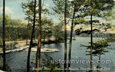 Hampton Pond - Holyoke, Massachusetts MA Postcard