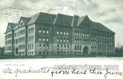 High School - Holyoke, Massachusetts MA Postcard