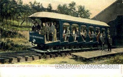 Mt Tom Railroad - Holyoke, Massachusetts MA Postcard