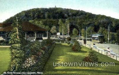 Mt Park Pavilion - Holyoke, Massachusetts MA Postcard