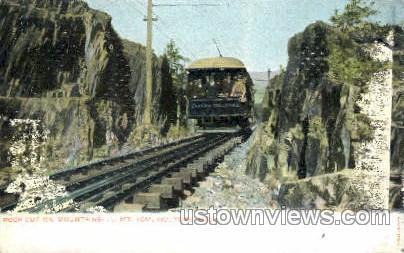 Rock Cut, Mt Tom Railroad - Holyoke, Massachusetts MA Postcard