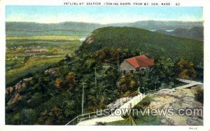 Incline, Station, Mt Tom - Holyoke, Massachusetts MA Postcard