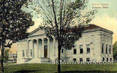 Public Library - Holyoke, Massachusetts MA Postcard