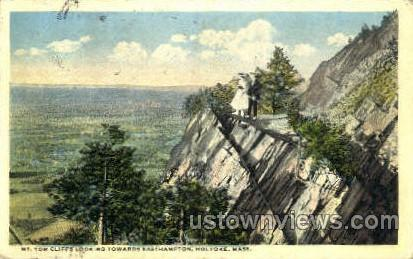 Mt Tom Cliffs - Holyoke, Massachusetts MA Postcard