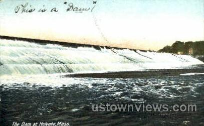 The Dam - Holyoke, Massachusetts MA Postcard