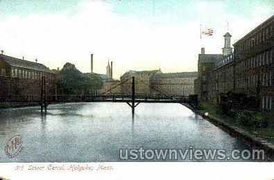 Third Lower Canal - Holyoke, Massachusetts MA Postcard