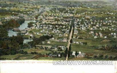 Easthampton from Mt Tom - Holyoke, Massachusetts MA Postcard