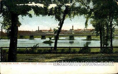 Viewed from across the river - Holyoke, Massachusetts MA Postcard