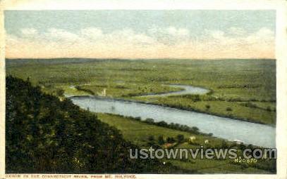 Oxbow, Connecticut River - Holyoke, Massachusetts MA Postcard
