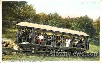 Elevating Car, Mt Tom Railway - Holyoke, Massachusetts MA Postcard