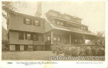 Real Photo The President's House - Holyoke, Massachusetts MA Postcard
