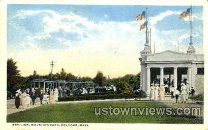 Pavilion, Mountain Park - Holyoke, Massachusetts MA Postcard