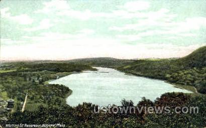 Whiting St. Reservoir - Holyoke, Massachusetts MA Postcard