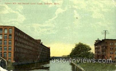 Second Level Canal - Holyoke, Massachusetts MA Postcard