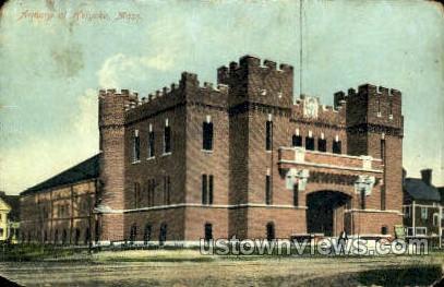 Armory - Holyoke, Massachusetts MA Postcard