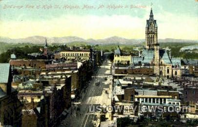 High St. - Holyoke, Massachusetts MA Postcard