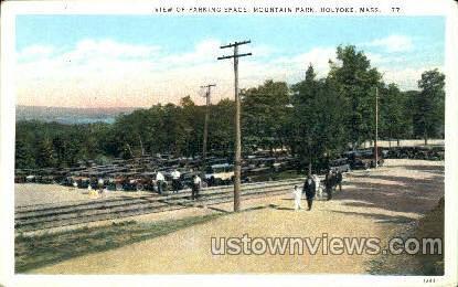 Parking Space, Mountain Park - Holyoke, Massachusetts MA Postcard