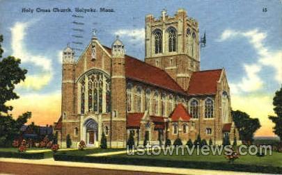 Holy Cross Church - Holyoke, Massachusetts MA Postcard