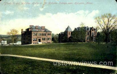 Shattuck & Williston Halls - Holyoke, Massachusetts MA Postcard