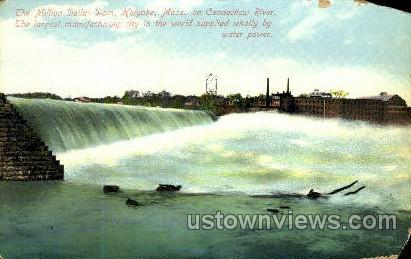 The Million Dollar Dam - Holyoke, Massachusetts MA Postcard