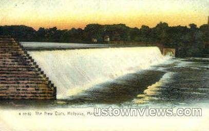 The New Dam - Holyoke, Massachusetts MA Postcard