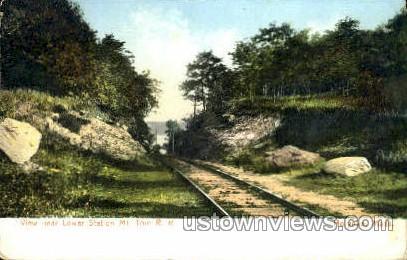 Lower Station, Mt Tom Railroad - Holyoke, Massachusetts MA Postcard