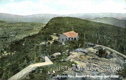 Upper Station, Mt Tom Railway - Holyoke, Massachusetts MA Postcard